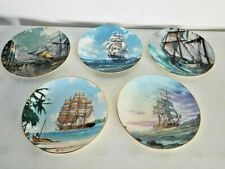 5 Royal Doulton Collectors International Plates By John Stobart 1-6 Missing #4