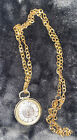 Vintage Lucerne Watch Gold-Tone Wind-Up Pendant  Necklace Swiss Made