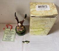 Limoge Style Trinket Box & Trinket Hinged Treasure Miniature Eagle and Fish