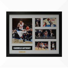 Carmelo Anthony Signed & Framed Memorabilia - White/Silver - Limited Edition