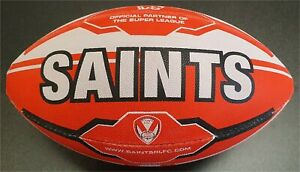 ST HELENS RHINO MIDI (SIZE 2) SUPPORTERS RUGBY BALL