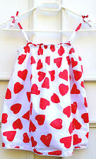 NEW BODEN White/RED HEART Print CAMISOLE VEST/TOP Size S (11-12y) COTTON Lined