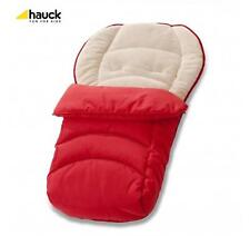 NEW HAUCK Official 2 Way Reversible Fleeced Cosytoes Footmuff  Red/cream/grey