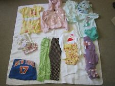 24 months Toddler Girl Clothes Lot 17 pieces Pajamas,Tees, Hooded Sweatshirt