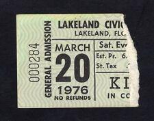Original 1976 Kiss concert ticket stub Lakeland FL Alive Tour Destroyer