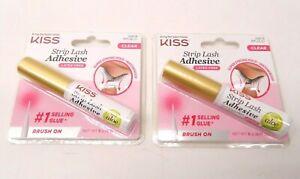 Lot of 2 - KISS Strip False Eyelash Glue Waterproof Eye Lash Extension CLEAR