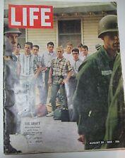 Life Magazine August 1965, The Draft, New Voting Laws, Sinatra, Hiroshima