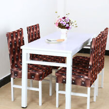 1/4/6pcs Removable Chair Covers Protector Stretch Slipcovers Short Dining Gift S034 6pcs