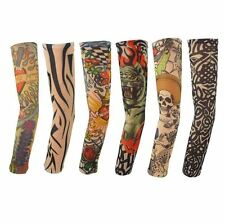 6 x Tattoo Ärmel Skin Arm Sleeve Strümpfe Stulpe Kostüme