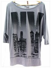 Ladies Size L Batwing Style New York Top