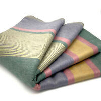 "SOFT & WARM STRIPED ALPACA LLAMA WOOL BLANKET THROW 97""x67"" QUEEN BED SOFA COUCH"