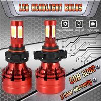 2x 5202 H16 4-sides CREE COB LED Fog Light Bulbs Headlight Kit 6000K White Xenon