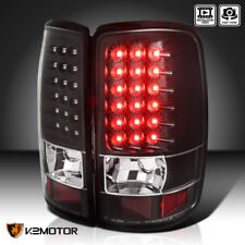 Black 2000-2006 Chevy Suburban Tahoe GMC Yukon Denali LED Tail Lights Left+Right