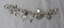 Vintage Fun Funky Unusual Silver Charm Bracelet 43 Grams