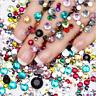 2000pcs Mixed Sizes Nail Art Rhinestones Diamond Gems 3D Tips DIY Decoration