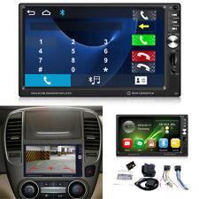 "7"" HD 2 Din Car Dash Stereo Player FM Bluetooth GPS Navigation w/ Free NA Maps"