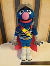 "Hasbro Sesame Street Super Grover 2.0 Talking Interactive Toy 14"" Tall 2011"