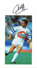 JEAN PIERRE PAPIN IN MARSEILLE KIT HANDSIGNED OVERALL 12 x 8 COLOUR PHOTOGRAPH