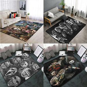 Horror Movie Character Area Rug Fluffy Rug Living Room Floor Mat Non-Slip Carpet
