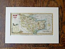 1784 Conder Hogg Kent Old Antique Map England Canterbury Handcoloured Mounted
