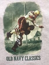 VINTAGE 90' Old Navy Classic NFL Football Made In USA Adult T-Shirt Large NEW