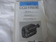 Bedienungsanleitung  CCD-TR55E  Video Camera Recorder  V8