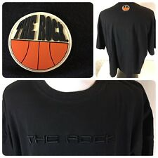 Mens THE ROCK Basketball T shirt Black size XL New York 82 Auth. City Hoops   D3
