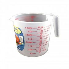 MEASURING CUP :1 LITER/ ML/ CUPS/ OZ /1 Quart (dishwasher and microwave safe)