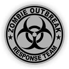 Zombie Outbreak Response Team Hard Hat Sticker / Helmet Label Decal Hot