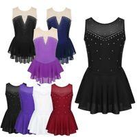 Girl Ballet Dance Dress Gymnastics Leotard Lyrical Ballroom Dancewear Costume
