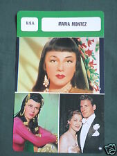 MARIA MONTEZ - MOVIE STAR - FILM TRADE CARD - FRENCH