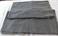 "Gray Woven Wool Fabric 56"" wide x 1.5 yards & 1.3 yards (2 pieces)"