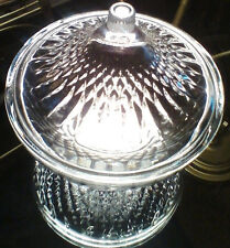 CANDY DISH W/COVER, CLEAR, PRESS GLASS, MADE IN INDONESIA, NWT, FREE SHIPPING!!!