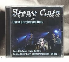 STRAY CATS - LIVE & UNRELEASED CUTS CD EXCELLENT 2007 DELTA MUSIC