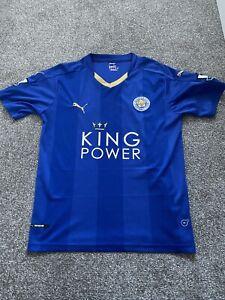 Leicester City 2015-16 Premier League Champions Shirt Size Large