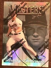 1997 BRADY ANDERSON - TOPPS FINEST SILVER  REFRACTOR # 312 - BALTIMORE ORIOLES