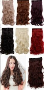 KOKO 16 inch one piece CURLY clip in hair extensions weft Heat Resistant 1 piece