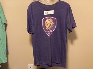 Orlando City SC MLS Fanatics Distressed Logo Men's T-Shirt Size L