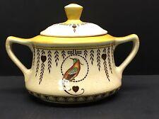 Rare Royal Doulton Sugar Bowl Lidded Birds of Paradise Yellow HTF
