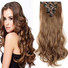 100% Natural Thick 18 Clips Clip In Hair Extensions As Human Hair Extensions Rh1