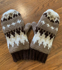 Bernie Sanders Mittens - Fleece Lined - Adult Large - Hand Crocheted In USA