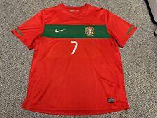 2010 Portugal Ronaldo Jersey Red Home Nike Kit Shirt Xl Fifa World Cup 7 Green