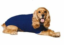 Fashion Pet Classic Cable Dog Sweater Cobalt Blue Medium