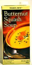 Trader Joes Butternut Squash Soup Gluten Free Each 32 Oz