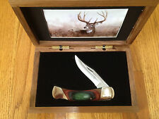 "BEAR & SON ""THE ONE I MISSED BUCK"" 5"" LOCKBACK KNIFE WALNUT GIFT BOX LTD EDITION"