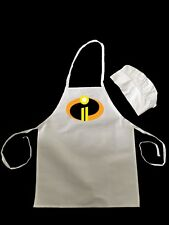 THE INCREDIBLES 2 Two Super Hero cartoon Logo.  Kids Hat & Apron Set