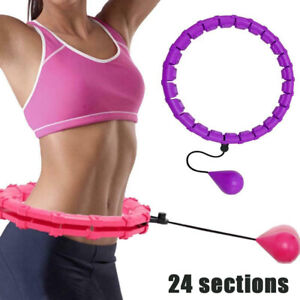🔥🔥24 Knots Weighted Hoola Hoop Adult Smart Hula Thin Waist Fitness Weight Loss