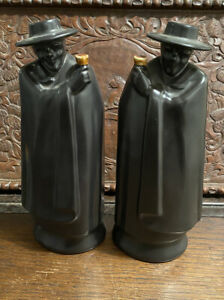 PAIR OF WEDGWOOD SANDEMAN DON DECANTERS WITH PRINCE OF WALES 1969 INAUGURATION