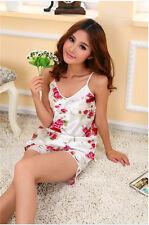 Women Sexy Floral Sleepwear Braces Shirts Shorts Underwear Pajamas Sets Robes