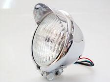 Motorcycle Chrome Metal H4 Head Light Lamp For Harley Chopper Sportster Custom